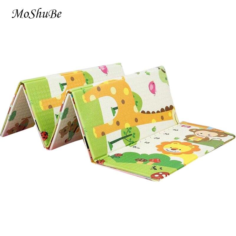 1cm XPE bébé tapis de jeu 200*180cm pliable girafe enfants tapis enfants jeu Gym ramper tapis Puzzle antidérapant jeu Pad sol doux
