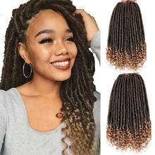 Smart Braid Haar Göttin Faux Loks Dreads Häkeln Haar Zöpfe Synthetische Haar Verlängerung 16/20 zoll Weiche Natürliche 24 Steht/ pack(China)