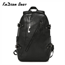 KUDIAN BEAR Men Backpack Waterproof Backpacks Fashion PU Leather Travel Bag Casual School Bag Teenager Bookbag BIX301 PM49