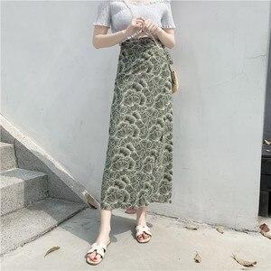 Mbn6604249 богемная шифоновая длинная юбка, юбка для похудения, значительно более высокая тонкая юбка на завязках