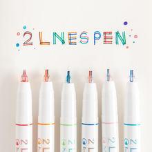 Sharkbang 3 шт 05 мм kawaii 2 линии ручка для рисования граффити