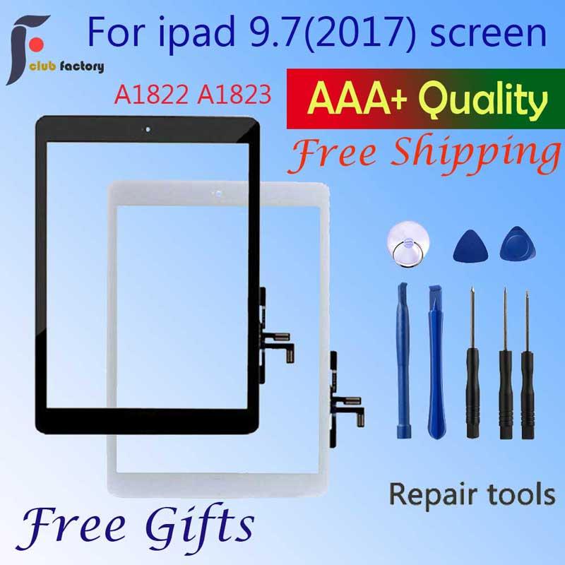 Сенсорный экран A1822 A1823, для iPad 5, внешняя панель, переднее стекло, iPad 9,7, дигитайзер сенсорного экрана, передняя внешняя панель G, новинка 2017