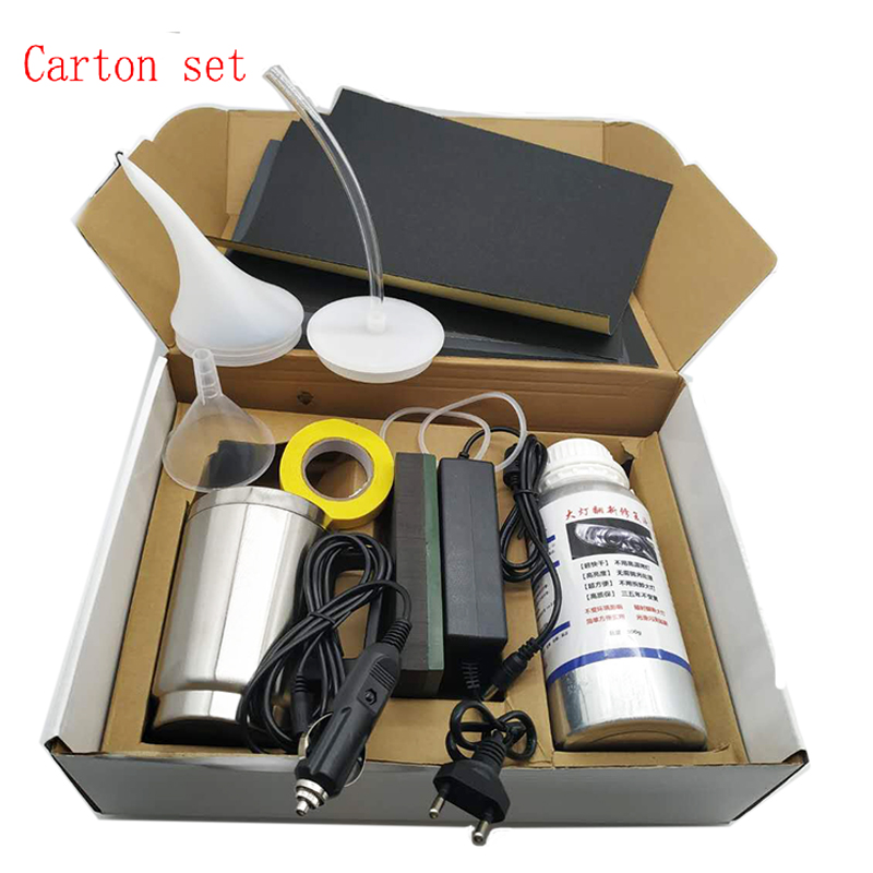 Kit de polissage pour phares de voiture 800ML polymère liquide faros kit de réparation pour phares de voiture