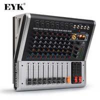 EYK EA80P 8 Kanäle Mischen Konsole mit 2x150 Watt/4 Ohm Power Verstärker Professionelle Bluetooth Record USB audio Mixer DJ