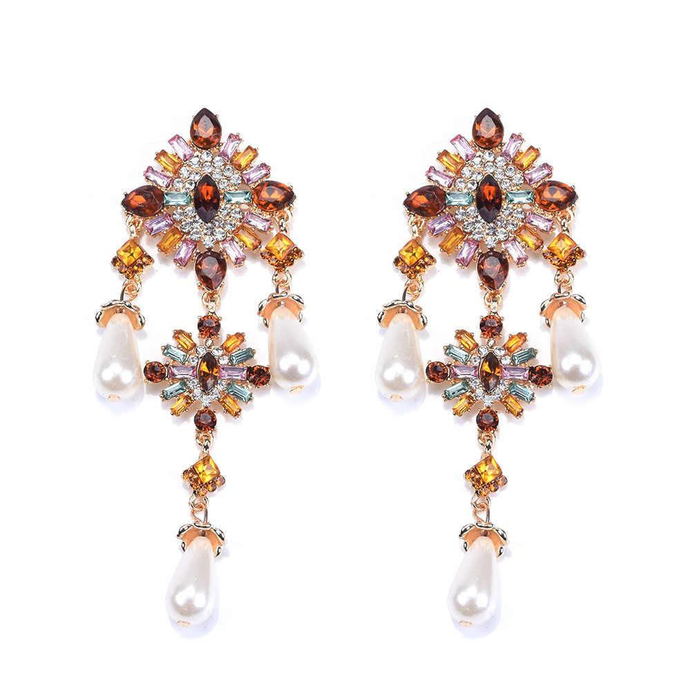 Mode grand géométrique carré balancent des boucles d'oreilles pour les femmes bohème charme couche en métal gland goutte boucles d'oreilles fête suspendus bijoux