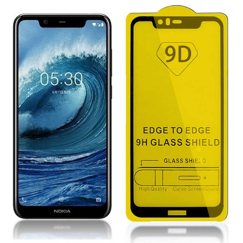 9D vitre de protection pour Nokia 2 5 6 7 protecteur d'écran pour Nokia 2.1 3.1 5.1 6.1 7.1 Plus 8.1X5X6X7 2018 plein verre trempé
