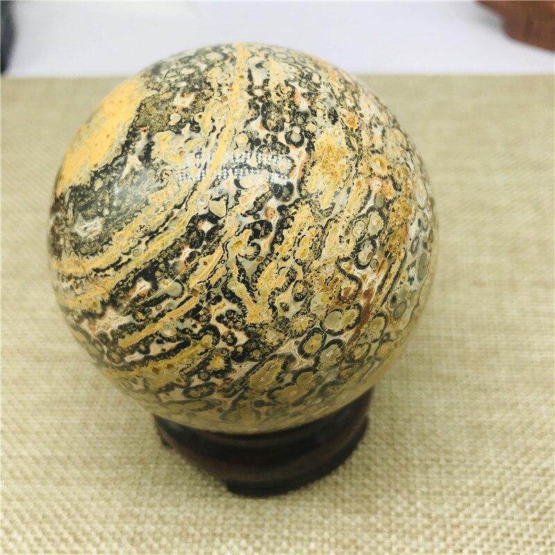 Boule de cristal de cristal de peau de tigre naturel de 70-80mm beau cristal de guérison de quartz