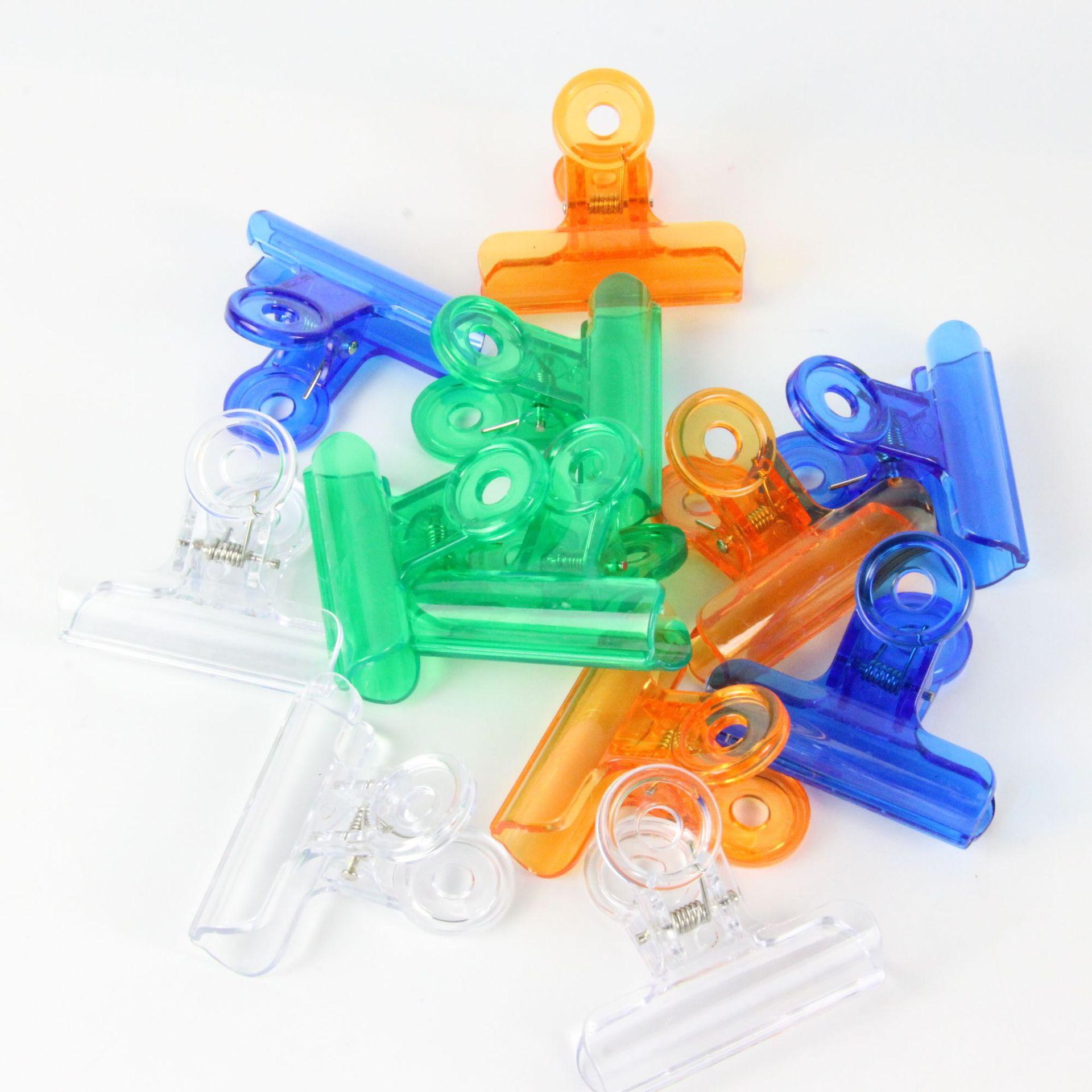 () Цвет прозрачный 38 размер пластиковый держатель билетов полностью прозрачный пластиковый зажим офисный зажим