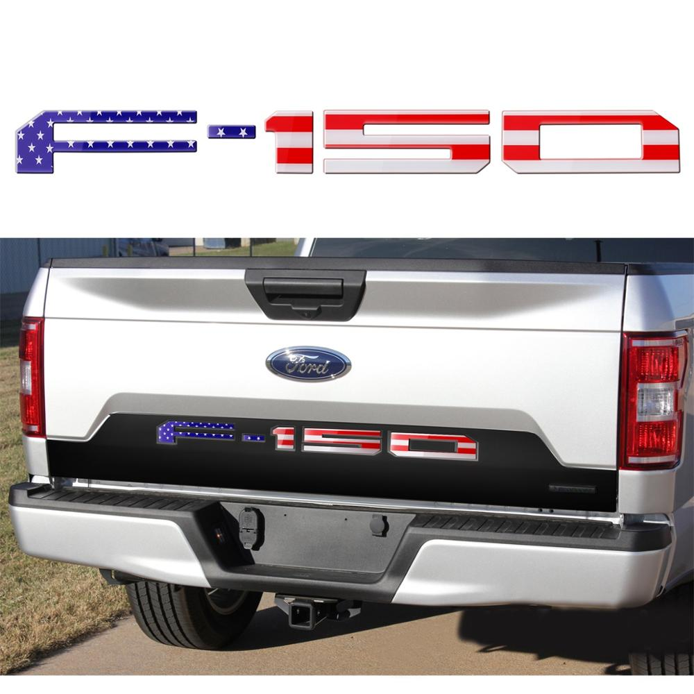 2019 Best selling MDATT Insert Letters for Ford F150 2018 2019 3M Adhesive & 3D Raised Tailgate Decal Letters