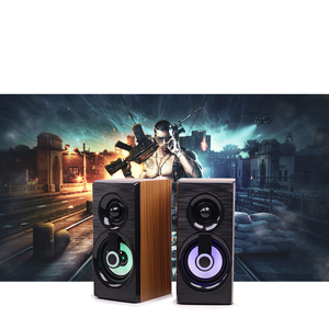 Image 5 - Music Speakers USB Wired Mini Computer Speakers Bass Stereo Wooden PC  Home Speaker 3.5mm AUX For Laptop Desktop Smart Phones