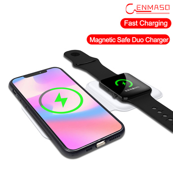 Cenmaso Original Magnetic Safe Duo Double Wireless Fast Charger For Iphone 12 Pro Max 12 Mini For Apple Phone Fast Charger 15W 1