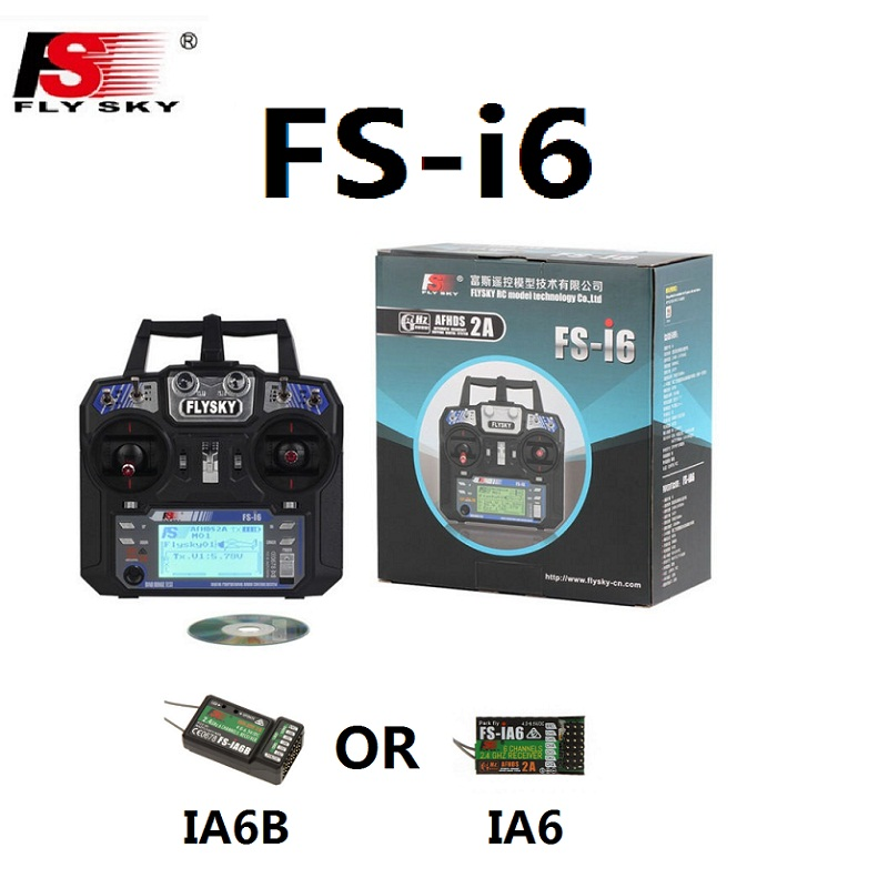 Flysky FS-i6 FS I6 2.4G 6ch RC Transmitter Controller With FS-iA6 IA6B Receiver For RC Helicopter Plane Quadcopter Glider Drone