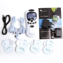 Dual-Channel Tens Acupuncture BodyNeck MassagerPulse Meridian Machine Muscle Stimulator Electric Muscle Digital Therapy Machine