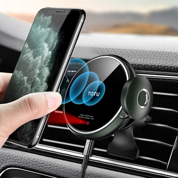 TOTU Car Holder Stand with Wireless Charger Phone Mount Holder for iPhone 11 Pro Max X XS XR Samsung Huawei Xiaomi Redmi Phone