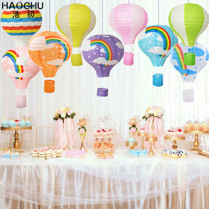 Image 3 - 5PC 大熱気球提灯レインボーハンギングボール白中国の結婚式誕生日ホリデーパーティーの装飾