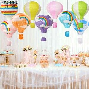 Image 3 - Lanterne chinoise à souhait en papier pour ballons à Air chaud, 5 pièces, lanterne à suspendre arc en ciel, décoration de fête de mariage, anniversaire et vacances, lanterne blanche