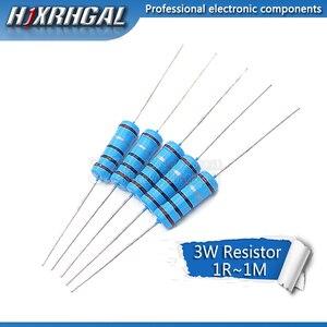 5pcs 3W Metal film resistor 1% 1R ~ 1M 1R 4.7R 10R 22R 33R 47R 1K 4.7K 10K 100K 1 4.7 10 22 33 47 4K7 ohm(China)