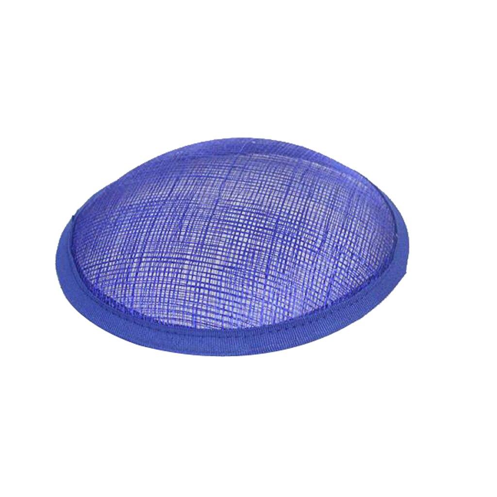13.5cm Round Sinamay Button Pillbox Millinery Fascinator Hat Base Craft
