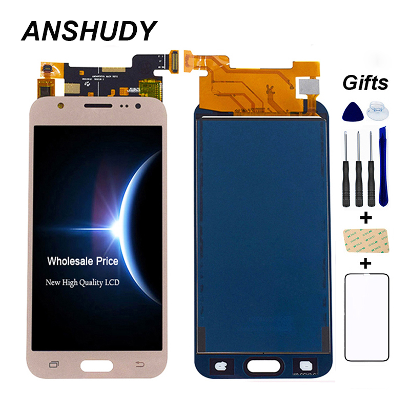 Einstellbar Für <font><b>Samsung</b></font> GALAXY J5 J500 J500F FN J500M <font><b>J500H</b></font> 2015 <font><b>LCD</b></font> Display Panel + Touchscreen Digitizer Sensor Glas montage image