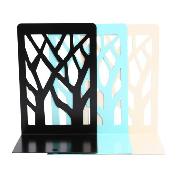 2 Pcs/Set Simple Book Holder Metal Tree Shape Bookends Shelf Wrought Iron Support Holder School Office Stationery Supplies недорого