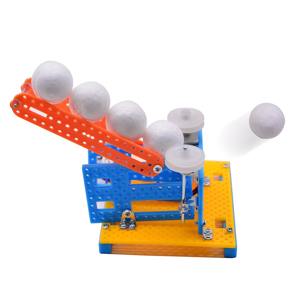 DIY Automatic Ball Pitching Machine Toy Science Toys School Tecnologia Educational Toys Science Project Model Toys For Children