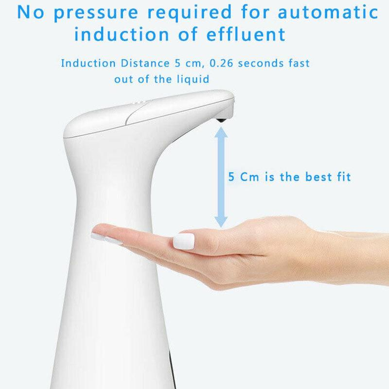 200ml Automatic Soap Dispenser Induction Hand Sanitizer Sprayer Machine Usb Charging Induction Soap Dispenser