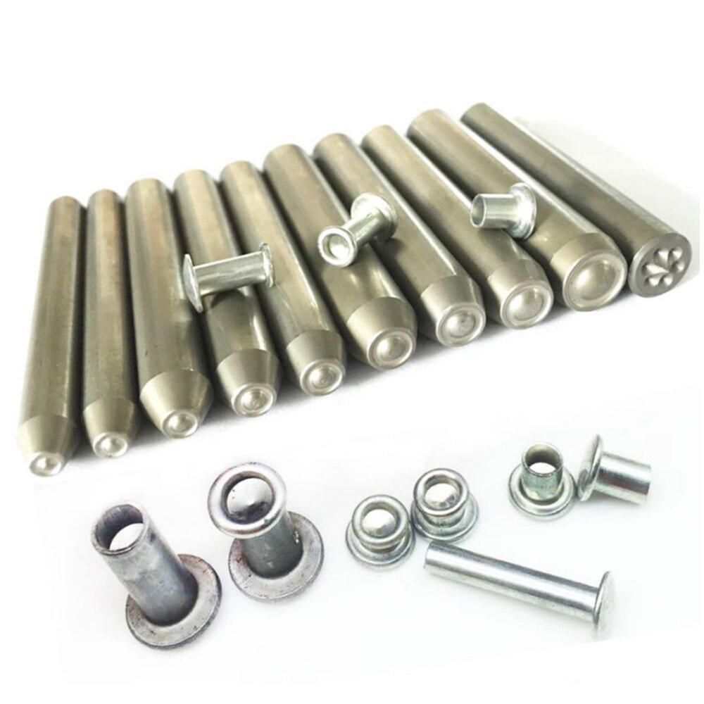 M2 M2.5 M3 M3.5 M4 M4.5 M5 M6 M8 Nut Rivet punch Pin Tool for Aluminum Flat Round Head Half Hollow Rivet Nut