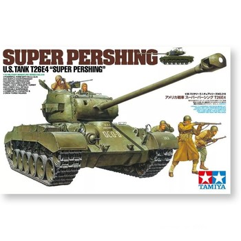 Tamiya 35319 1/35 US T26E4 Super Pershing Heavy Tank Display Collectible Toy Plastic Assembly Building Model Kit