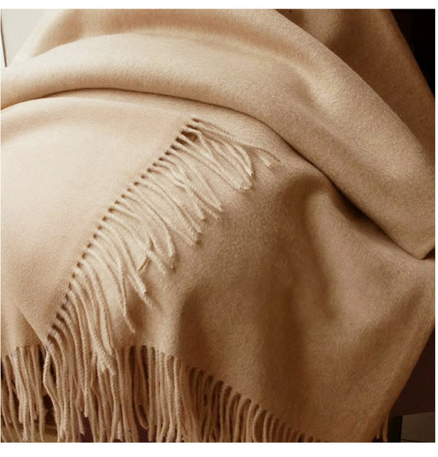 Solidlove 100% Wool Winter Scarf Women Scarves Adult Solid  Luxury Autumn Fashion Designer Scarf  Poncho Scarfs for Ladies Wrap 1