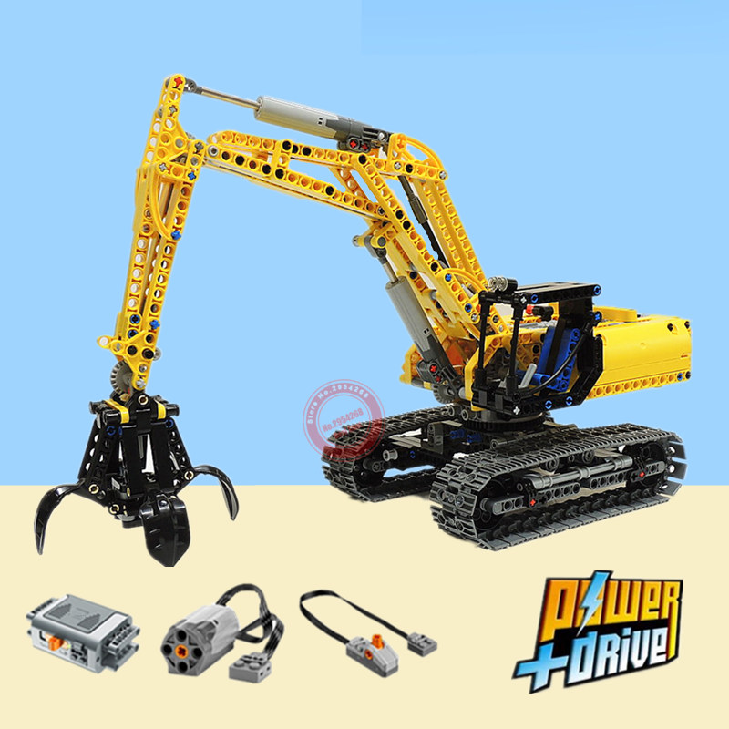 New 2in1 City Engineering Crane Forklift Excavator Fit <font><b>Legoings</b></font> Technic Model Building Blocks Bricks <font><b>42006</b></font> City Kids Toys Gifts image