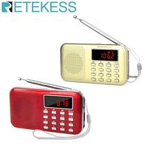 RETEKESS PR11 Radio Receiver Portable FM AM 2 Band Digital Mini Radio Pocket With USB MP3 Player Support TF Card USB Disk F9210J