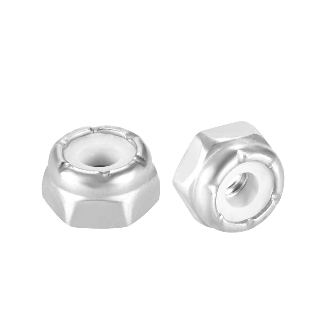 1//4-20 Inch Nylon Insert Hex Lock Nuts 18-8 304 Stainless Steel 120 Pieces