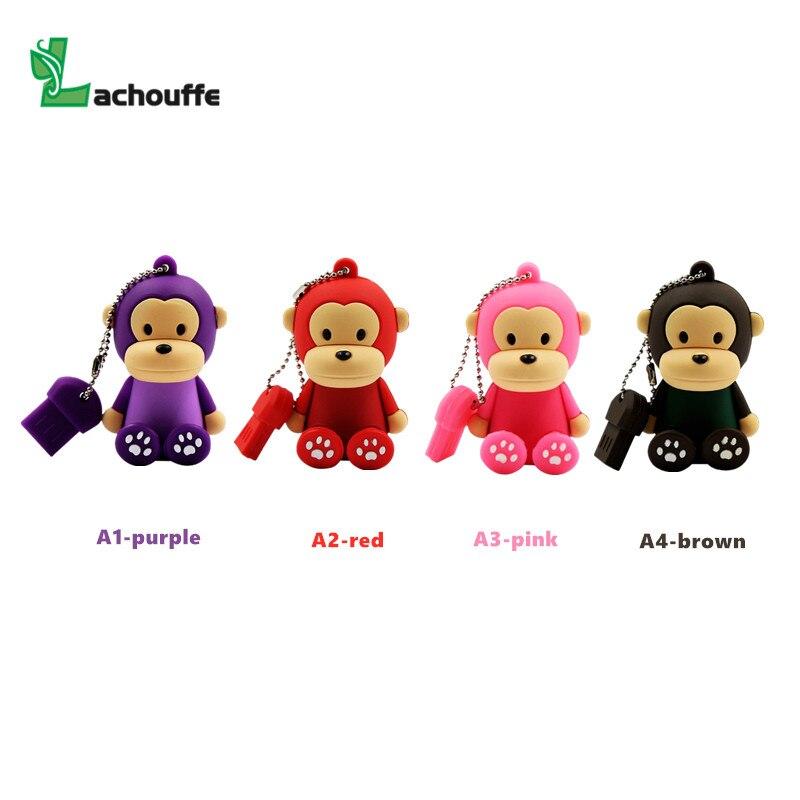 Cartoon Monkey USB 2.0 4GB 8GB 16GB 32GB 64GB 128GB Mini Cute Memory Stick Pendrive Creative Animal monkey U Disk