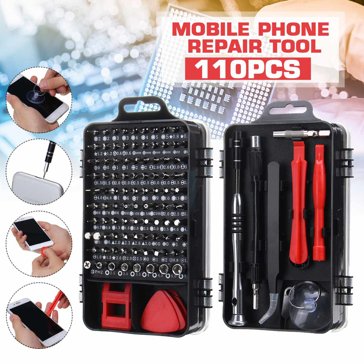 1 Screwdriver Set Magnetic Screwdriver Bit Torx Multi Mobile Phone Computer Repair Tools Kit Electronic Device Hand Tool