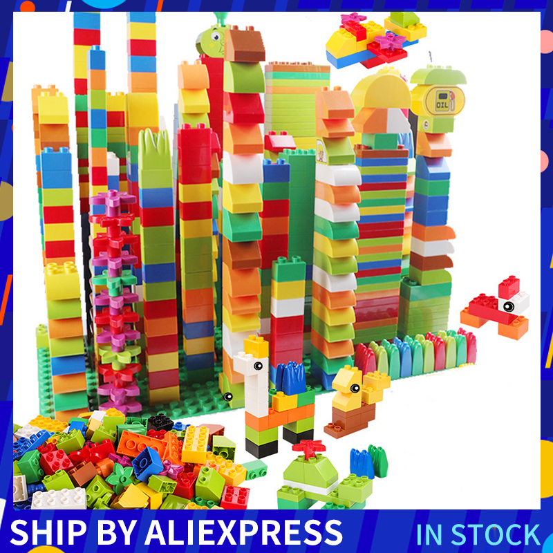 260PCS Compatible with Large Building Blocks Stickers Figurine Classic City Bricks Consturction Educational Toys For Children
