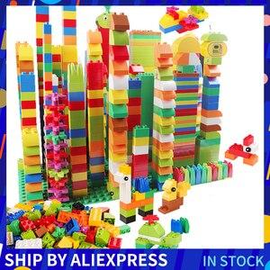 260PCS Big Size Classic Building Blocks Eye Stickers Figurine Colorful City Bricks Consturction Educational Toys For Children(China)
