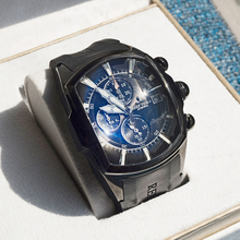 Date Chronograph Sport Watches Big-Watch Tiger/rt Waterproof All-Black Mens Relogio Masculino
