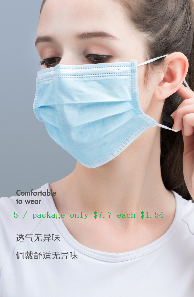 The Coronavirus Mask One-time Three Layer Thickening Countercheck Virus Mask Sterile Odorless Mask