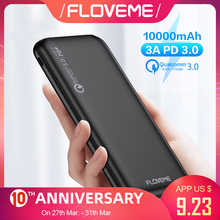 FLOVEME Quick Charger 3.0 Power Bank 10000Mah PD 3.0 Fast 18