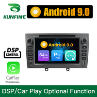 Android 9.0 Octa Core 4GB RAM 64GB Rom Car DVD GPS Multimedia Player Car Stereo for PEUGEOT 408 2007 2010 Radio Headunit WIFI