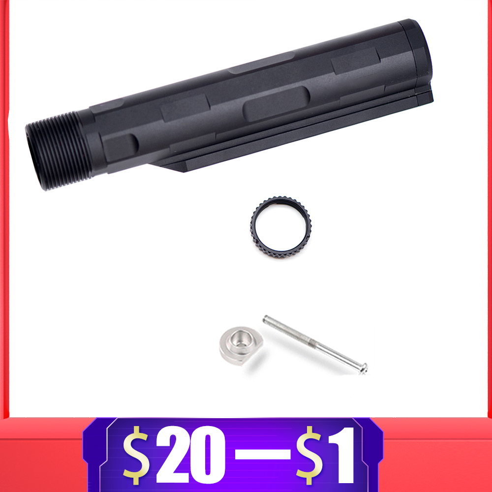 For AR Enhanced Nut 6 Position Buffer Tube Stock Pipe For Airsoft M4 M16 Gel Blaster AR15 Series AEG Paintball Accessories