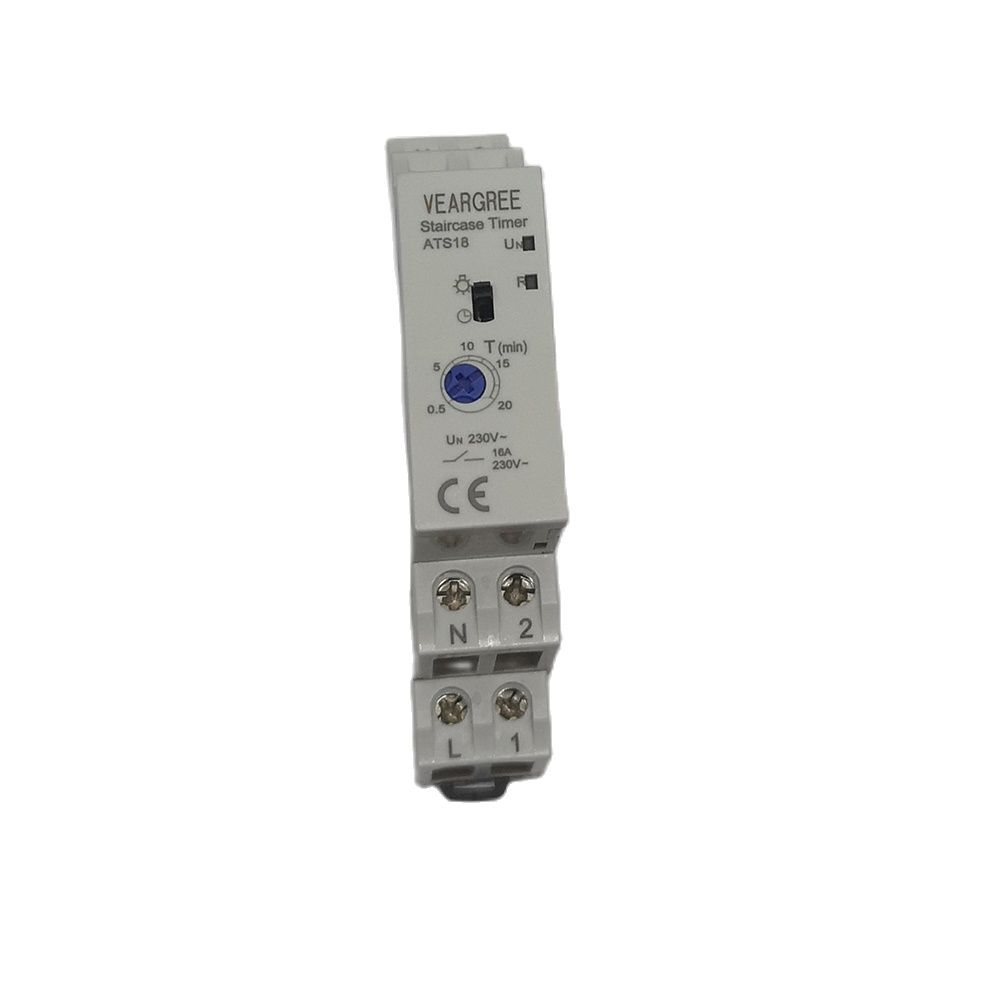 New Type ATS18 16A 250V DIN Rail Lighting Delay Staircase Light Timer Time Switch