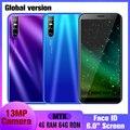 Y7 смартфонов 13MP глобальная версия Face id разблокирована 6,0 ''Full Экран 4 Гб Оперативная память 64 Гб Встроенная память мобильных телефонов Android мо...