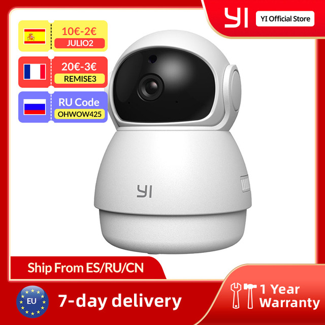 YI Dome Security Indoor Camera HD 1080p WiFi Ip Camera Smart Video Surveillance System Motion Detection Human and Pet AI 1