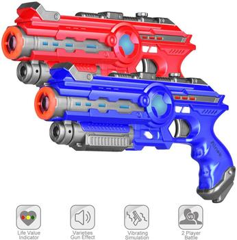Infrared Laser Tag Gun for Kids & Adults  Set of 2 Players, 2 Pack Blue&Red Outdoor & Indoor Laser Tag Set