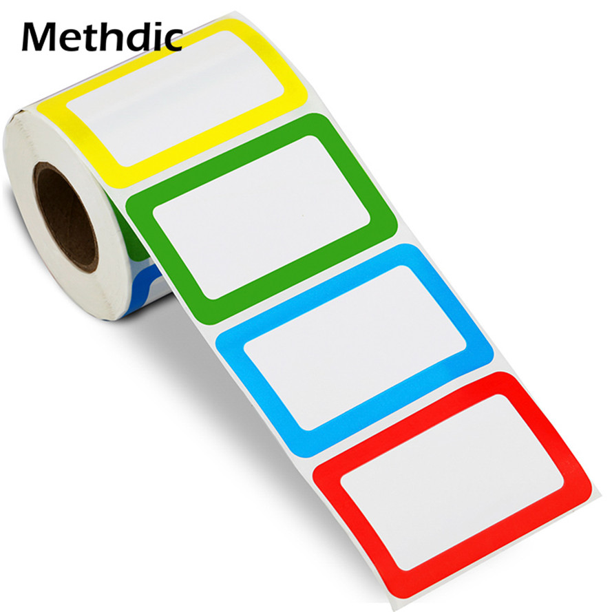 500labels/roll Colorful Name Tag Stickers For Working