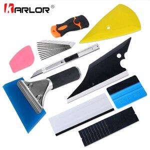 Image 1 - Kit de ferramentas para apertar filme de fibra de carbono, kit de instrumentos para cortar, envoltório magnético, faca, embalagem de janela, tinta automática, com 10 peças acessórios