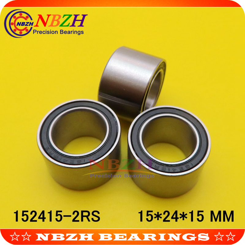 Bicycle double row bead bearing <font><b>6802</b></font> height 15 6802W15 152415-<font><b>2RS</b></font> 15*24*15 15X24X15 mm image
