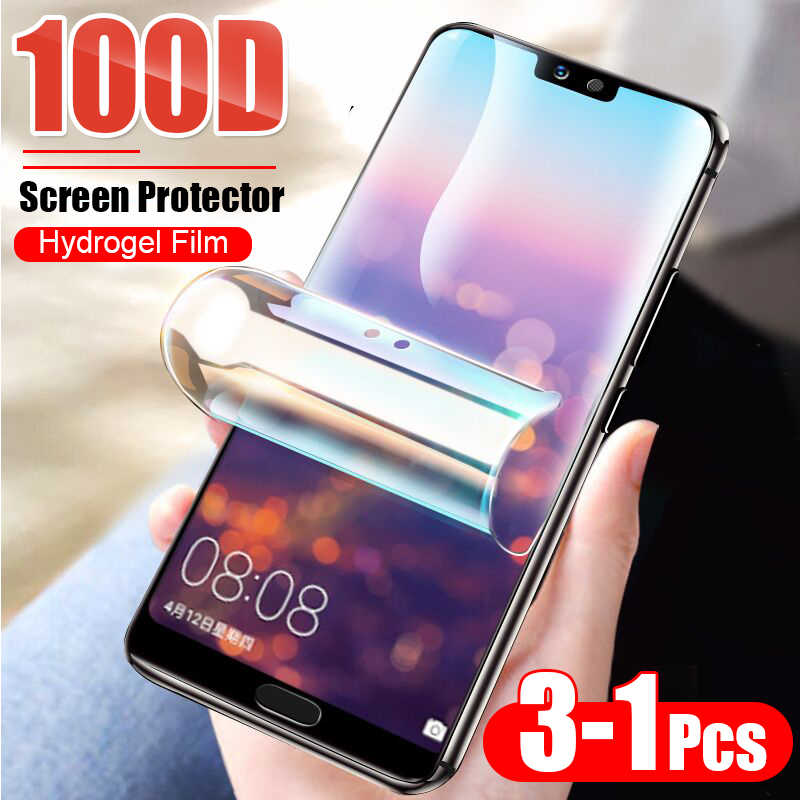 3-1Pcs Protective 100D Hydrogel Film For Huawei P10 Lite P20 P30 Pro Screen Protector For Huawei Mate 10 20 Pro Full Cover Film