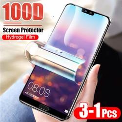 3 1 sztuk ochronna 100D hydrożel Film dla Huawei P10 Lite P20 P30 Pro folia ochronna dla Huawei Mate 10 20 Pro Film nie szkło|Etui do ekranu telefonu|Telefony komórkowe i telekomunikacja -